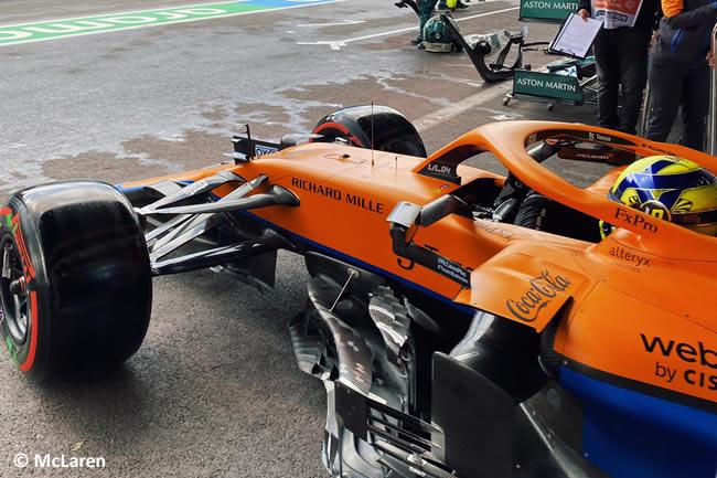 Lando Norris - McLaren - Entrenamientos Libres - Gp Bélgica 2021